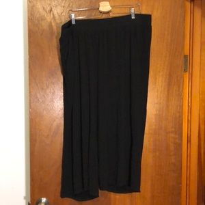Torrid knit pants size 3, black. Wide leg.